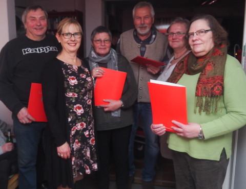 Foto: Die Geehrten für langjährige Mitgliedschaft